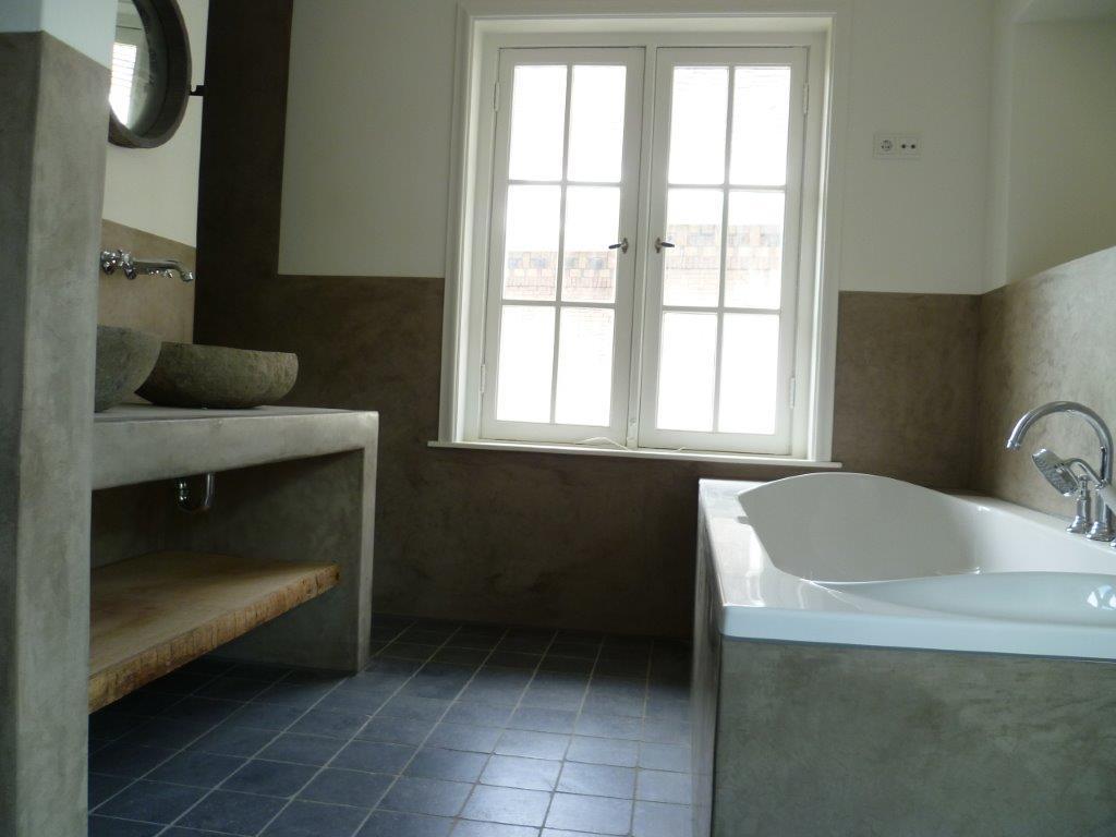 badkamer in tadelakt en stucwerk incl stoomcabine | betonlook-info.nl, Badkamer
