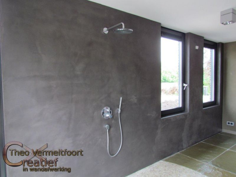 Nieuwe Badkamer Camper ~ Badkamer Sauna met Beton Cir? wand afwerking