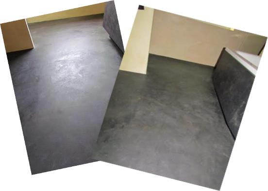 Decoratieve betonlook vloer afwerking